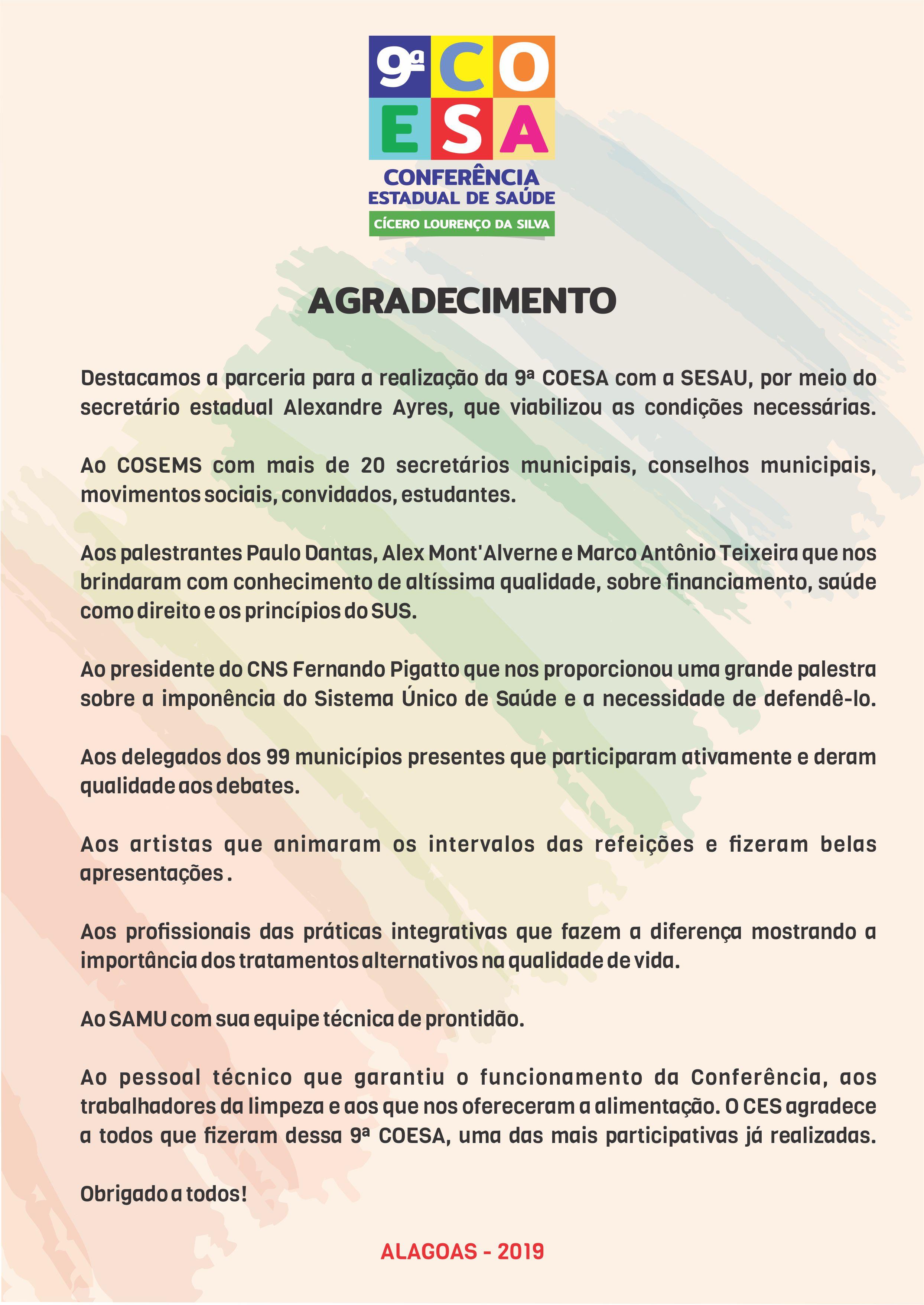CARTA DE AGRECIMENTO